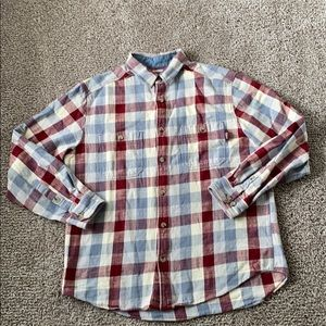 VGUC Men's large woolrich plaid checked button